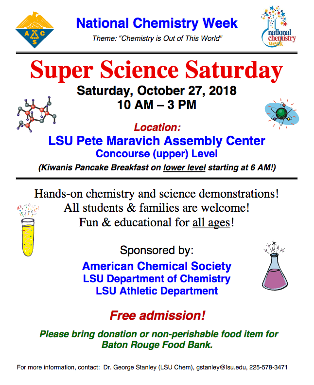 Super Science Saturday event poster