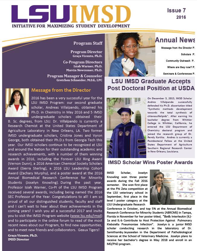 IMSD Newsletter