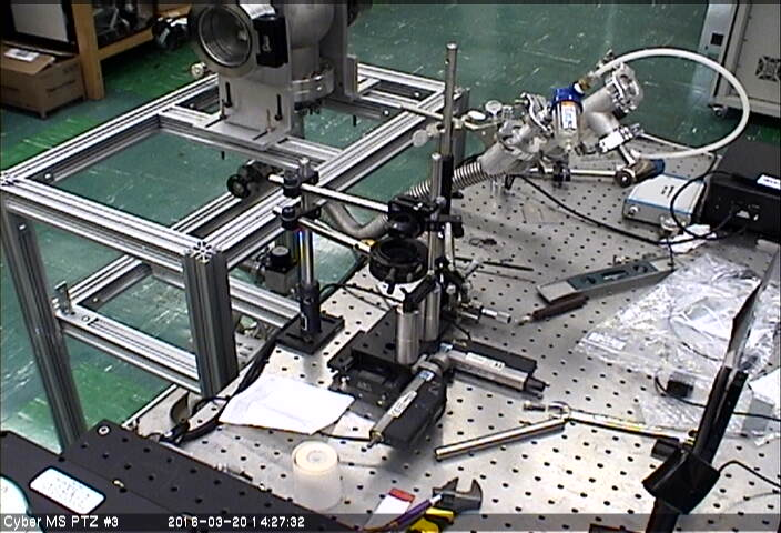 PTZ 3 Camera with view of the IR ablation setup - cyberization of the AFM table will have to wait until it makes its move into the new lab