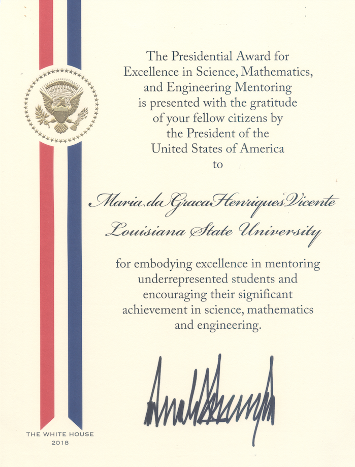 Presidential Award for Excellence in Science, Mathematics and Engineering Mentoring (PAESMEM)